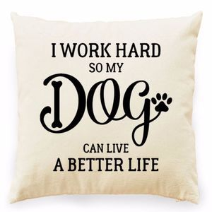 Other - I Work Hard So My Dog...BLACK GRAPHIC Pillow Cover